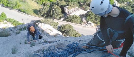 Базовые техники в альпинизме. Работа в связках (второе занятие)