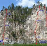 Скалы реки «Чусовая»