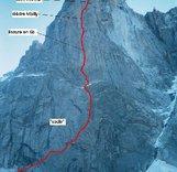 """Западная стена Пти Дрю в Альпах. Маршрут - """"Американский директ"""""""