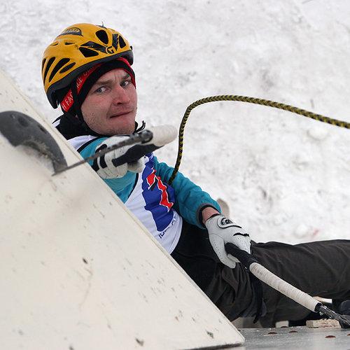 Алексей Деньгин - первый в трудности на Кубке Мира по ледолазанию!